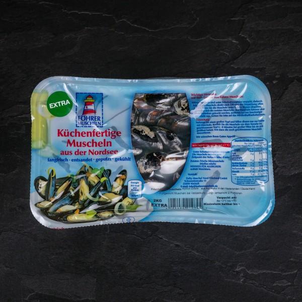 """Föhrer Miesmuscheln """"Extra"""" küchenfertig, 2,0 kg MAP"""
