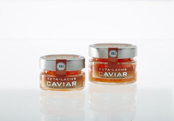 Keta Lachs Kaviar, 50g Glas