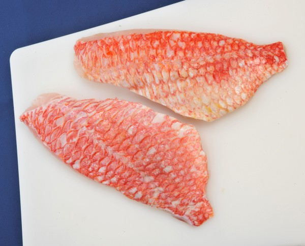 Red Snapperfilet mit Haut, geschuppt, 170-220g, IQF, 20% Glasur