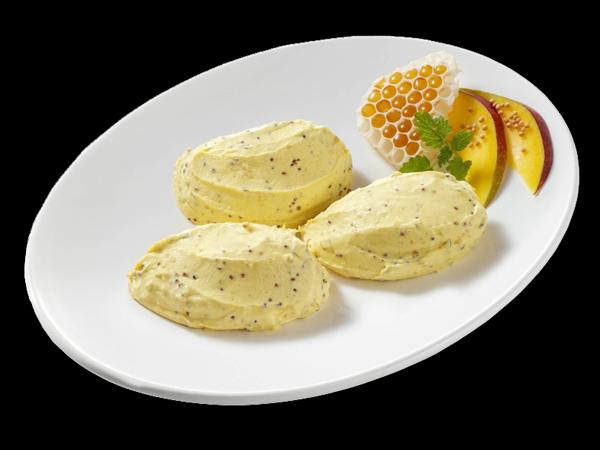 Honig-Senf-Frischkäsecreme