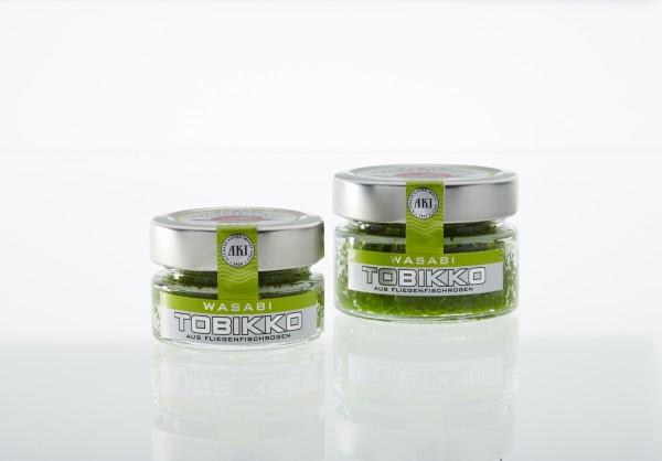 Tobikko grün, Wasabi, 45g Glas