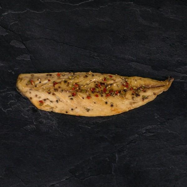 """Makrelenfilet """"Pfeffer"""", geräuchert 150g+"""