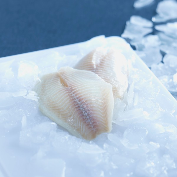 Tilapia-Buntbarschfilet, ohne Haut, grätenfrei, 160-180g, IQF, 10% Glasur