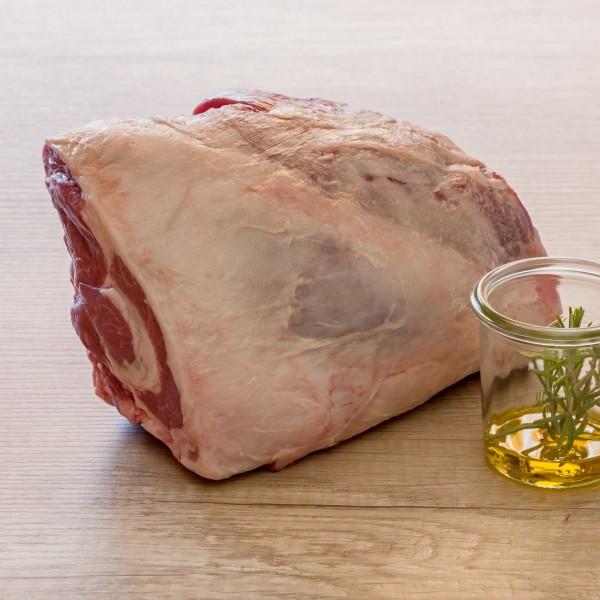 Irland Lamm Keule ohne Hüfte, mit Knochen, ohne Haxe, Stück a ca. 1,5-2kg, vac.