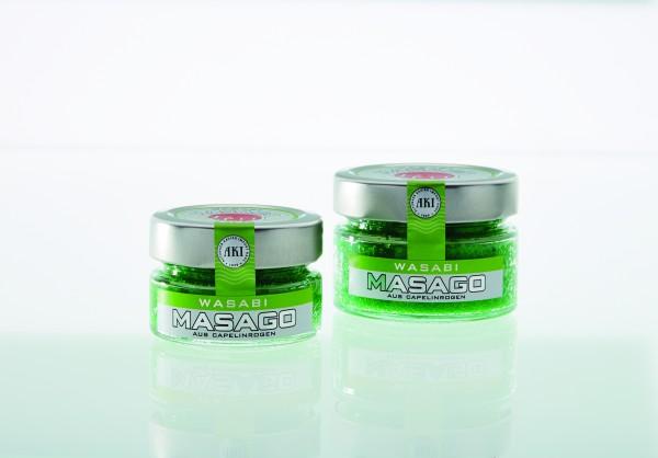Masago grün, Wasabi, 50g Glas