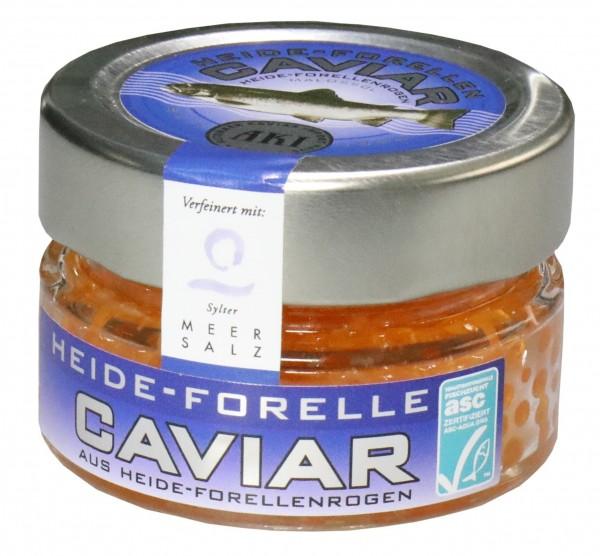 Heide-Forellen Kaviar mit Sylter Meersalz, 100g Glas